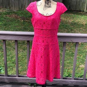 Ann Taylor NWOT Lace pink dress